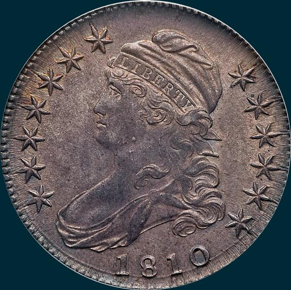 1810,O-103, Capped Bust, Half Dollar