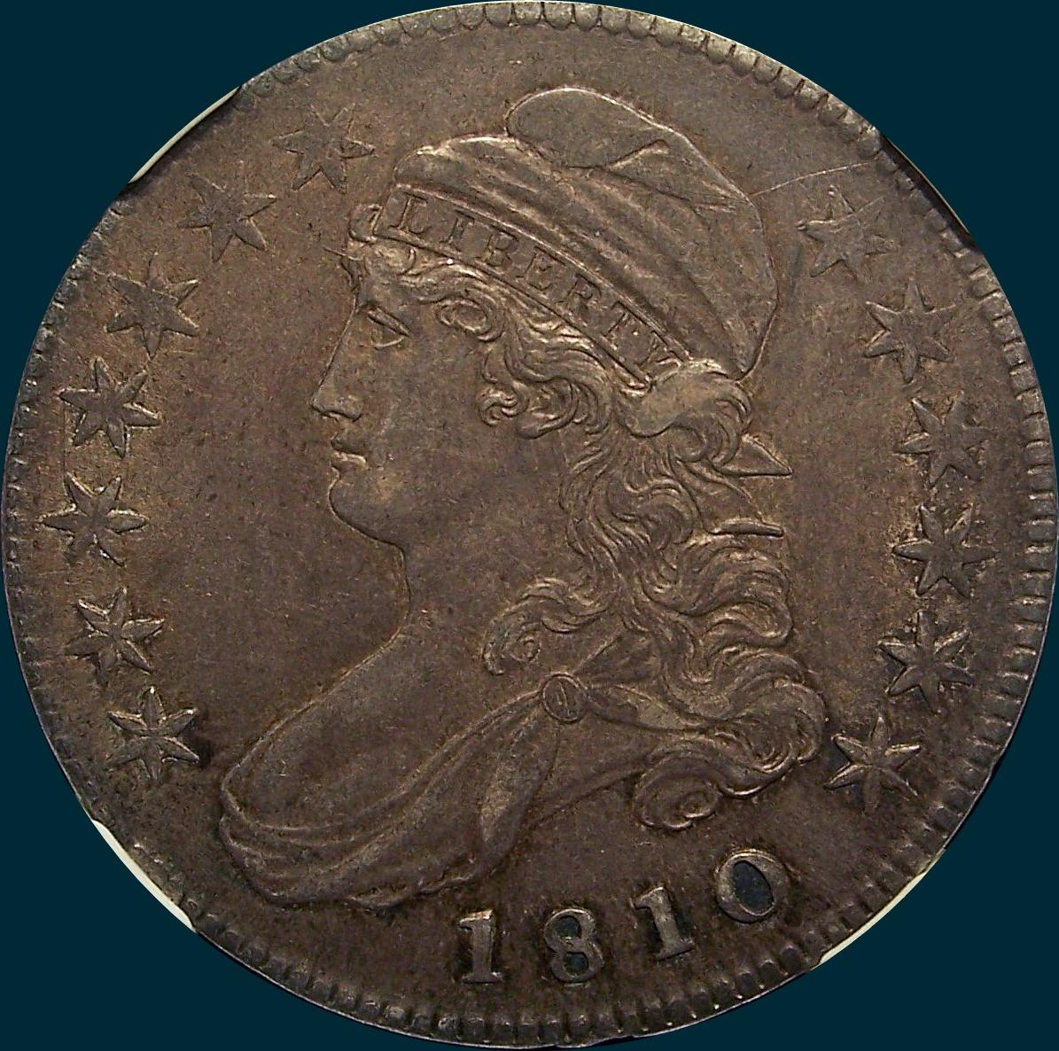 1810, O-109, Capped Bust Half, Dollar