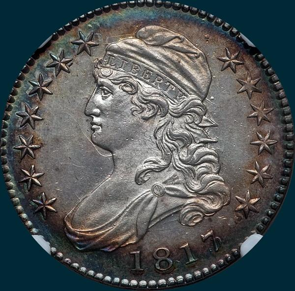 1817/13 O-101, Capped Bust, Half dollar