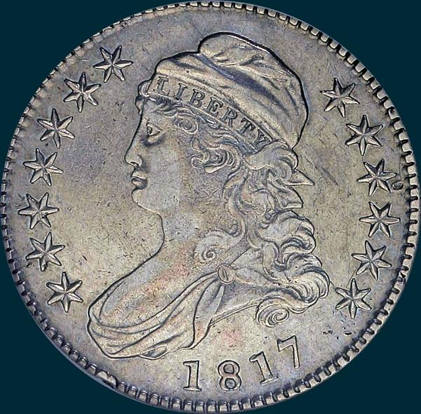 1817 O-104, Capped bust half dollar