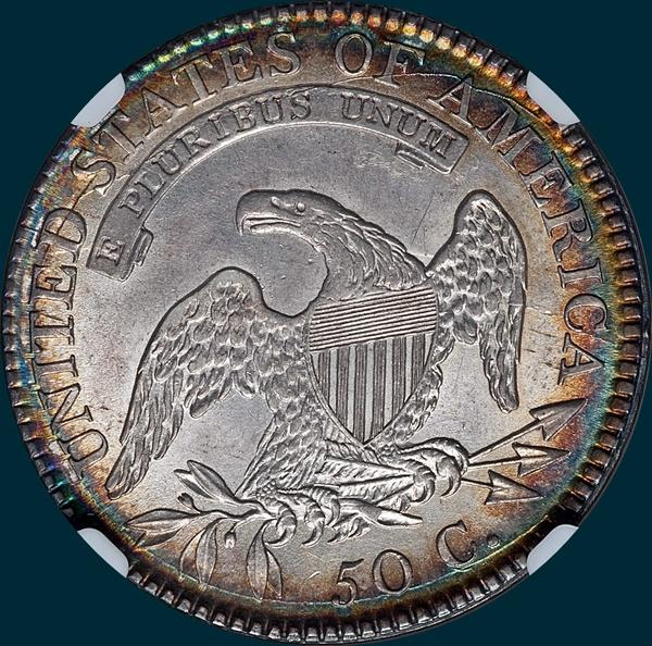 1817, O-107, Capped Bust, Half Dollar