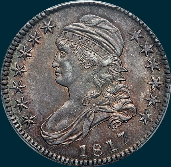 1817, O-112, Capped Bust, Half Dollar