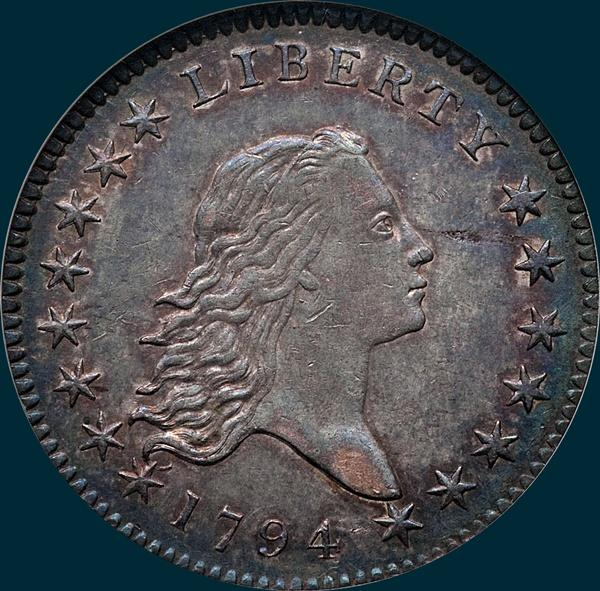 1794, O-101, Flowing Hair, Half Dollar