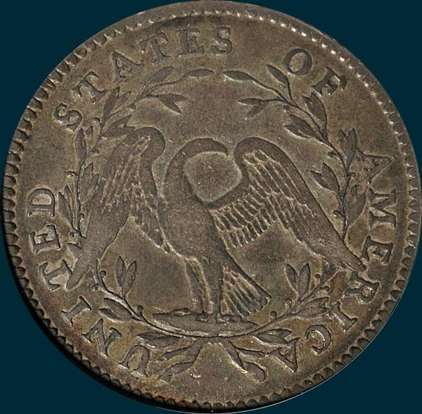 1794, O-102, Flowing Hair, Half Dollar
