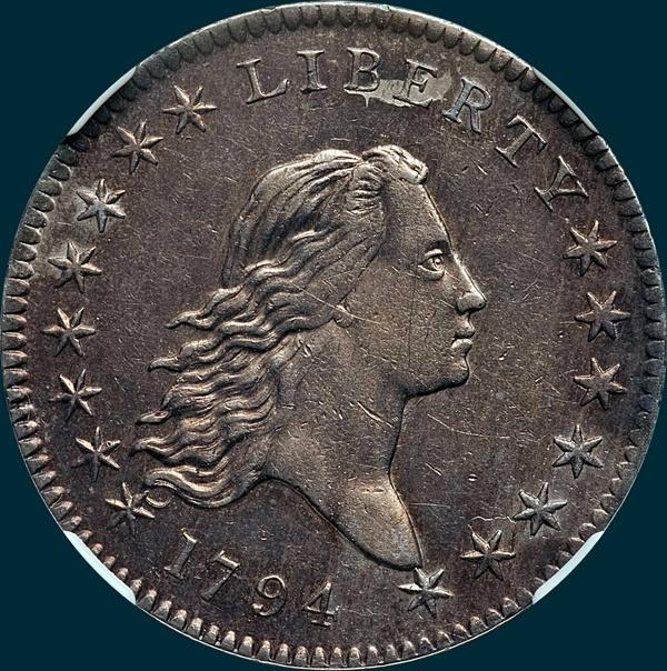 1794, O-103, Flowing Hair, Half Dollar