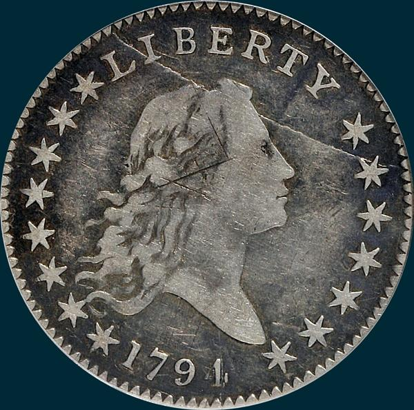 1794, O-106a, Flowing Hair, Half Dollar