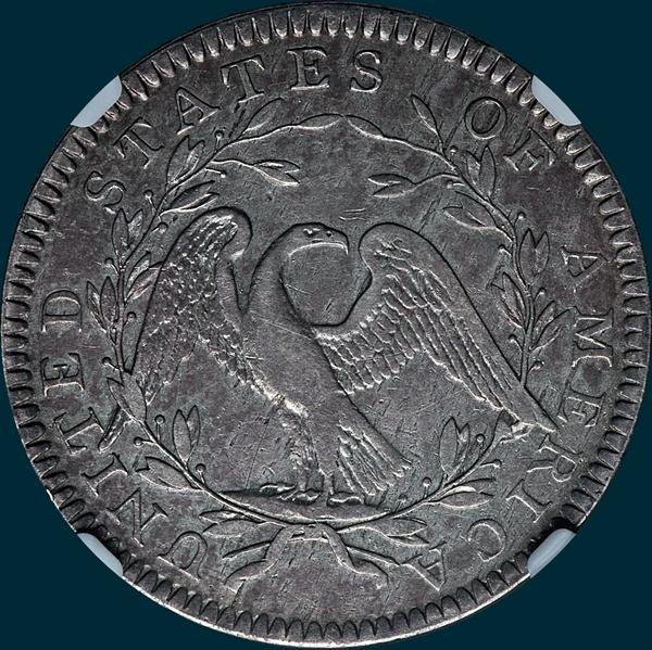 1794, O-108, Flowing Hair, Half Dollar