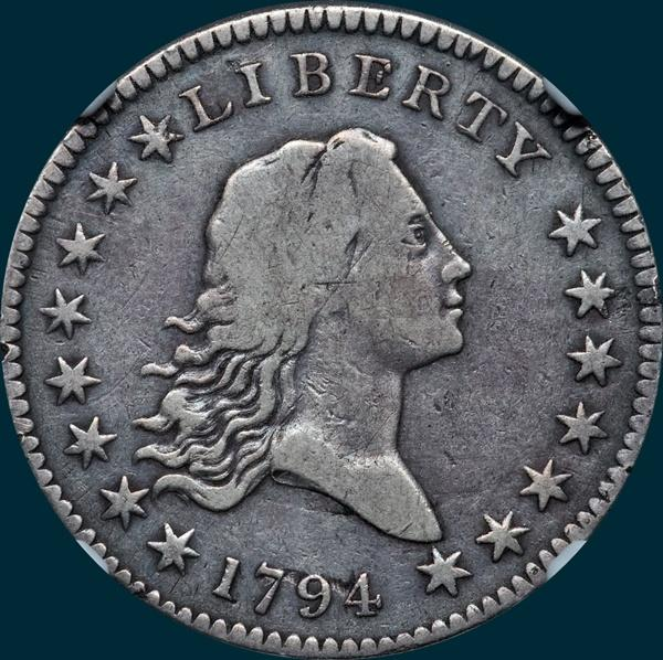 1794, O-109, Flowing Hair, Half Dollar