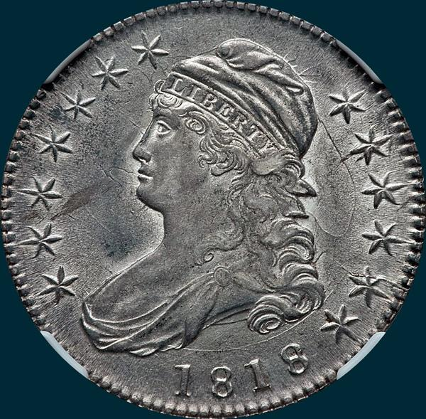 1818, O-105, Capped Bust, Half Dollar