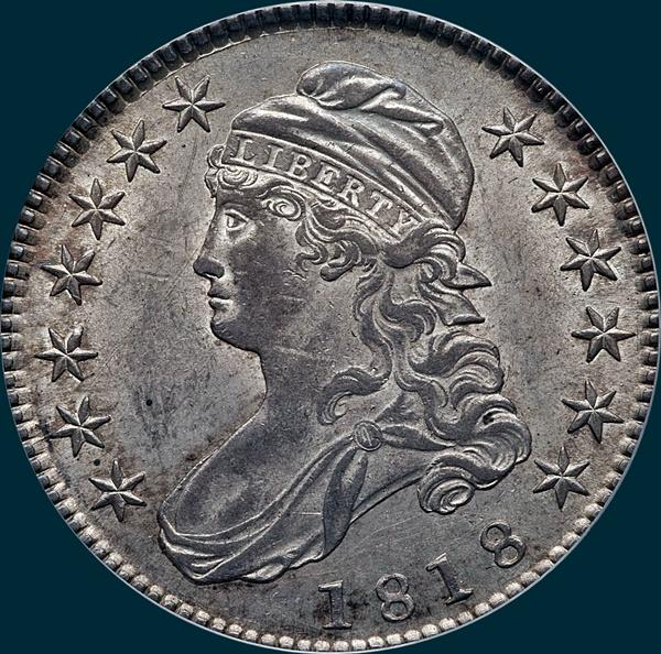 1818, O-106, Capped Bust, Half Dollar