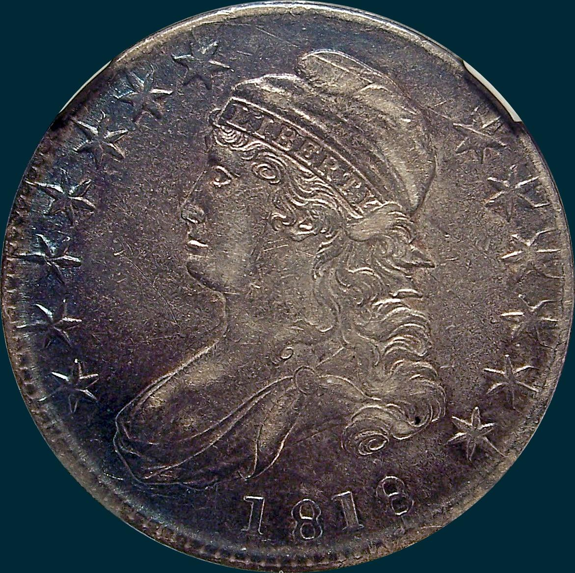 1818, O-110, Capped Bust, Half Dollar