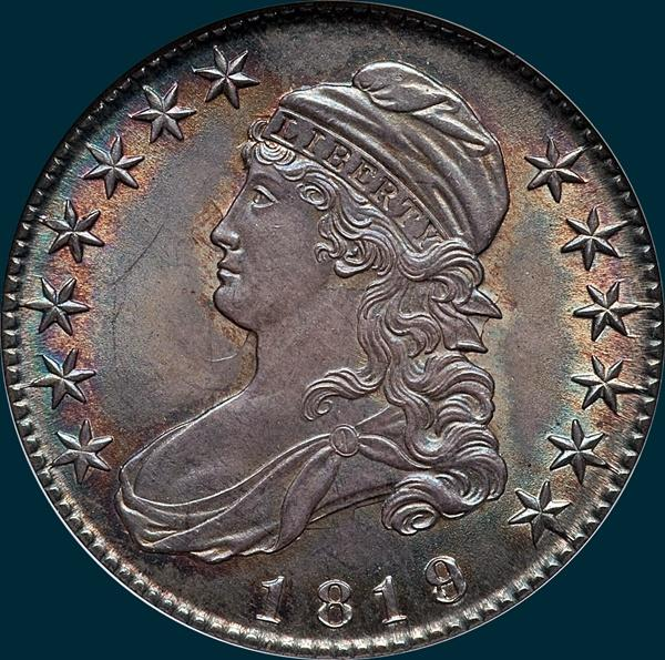 1819, O-105, Capped Bust, Half Dollar