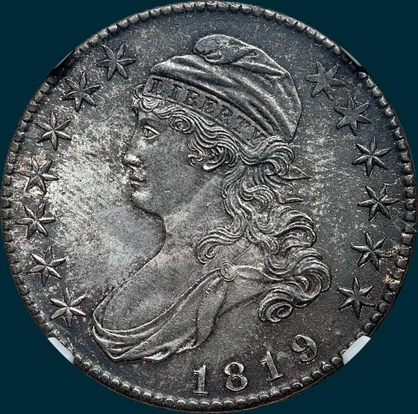1819, O-112, Capped Bust, Half Dollar