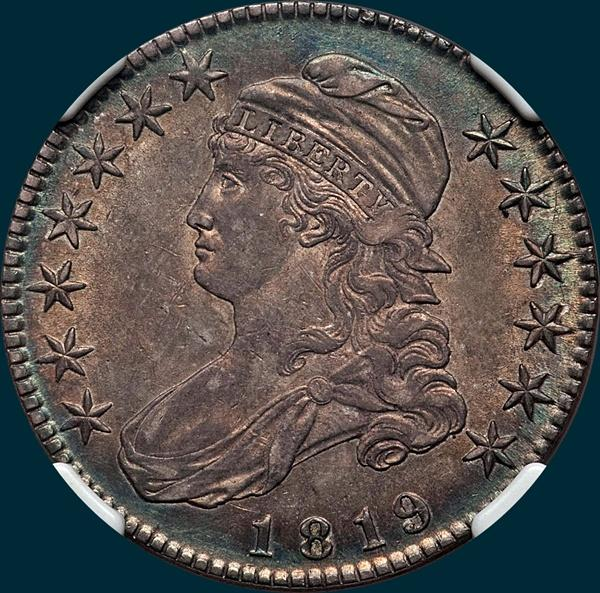 1819, O-114, Capped Bust, Half Dollar