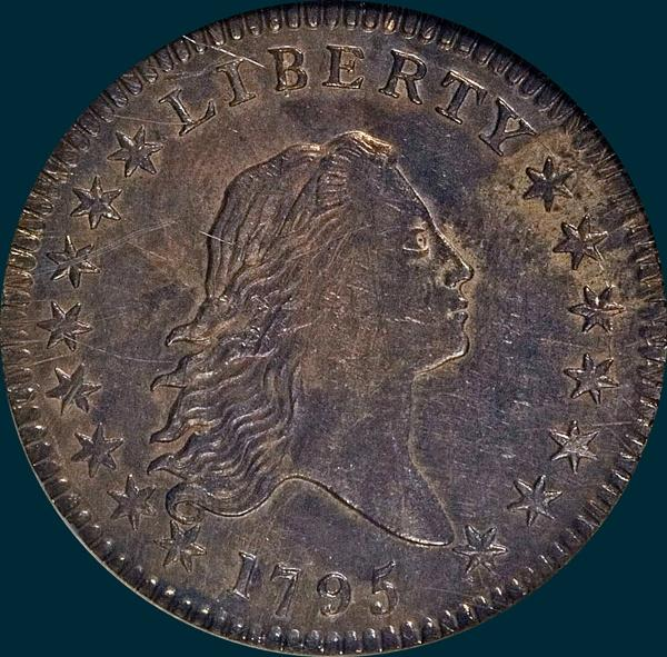 1795, O-104, Flowing Hair, Half Dollar