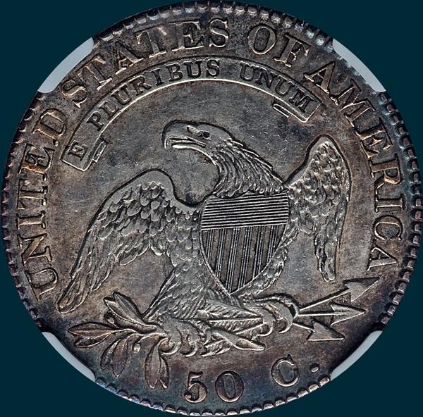 1822, O-108, Capped Bust, Half Dollar