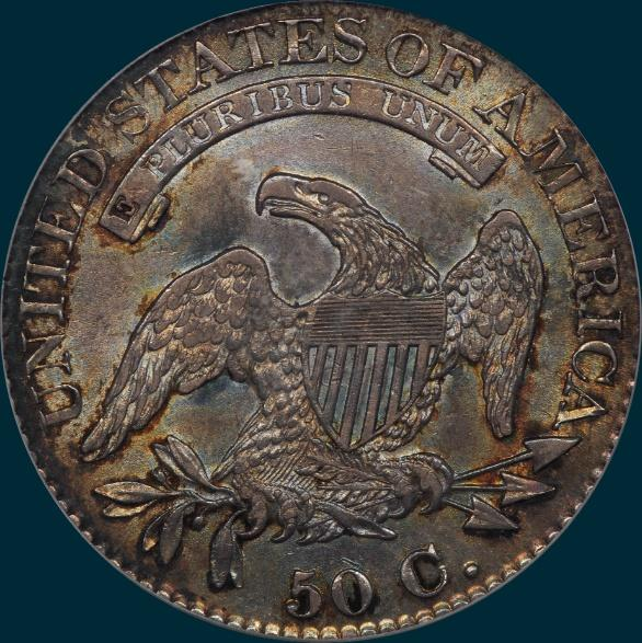 1825, O-110, Capped Bust, Half Dollar
