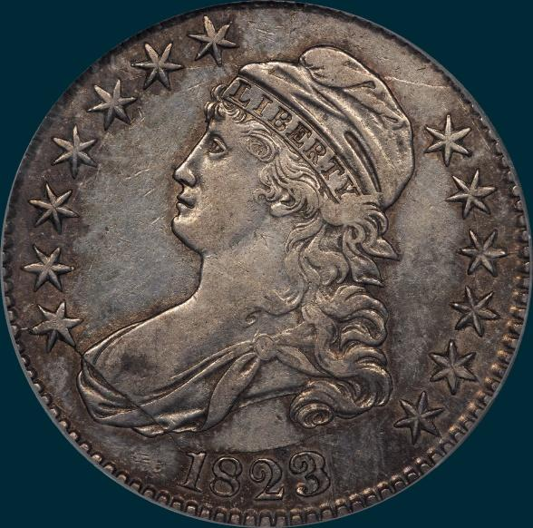 1823, O-109, Capped Bust, Half Dollar