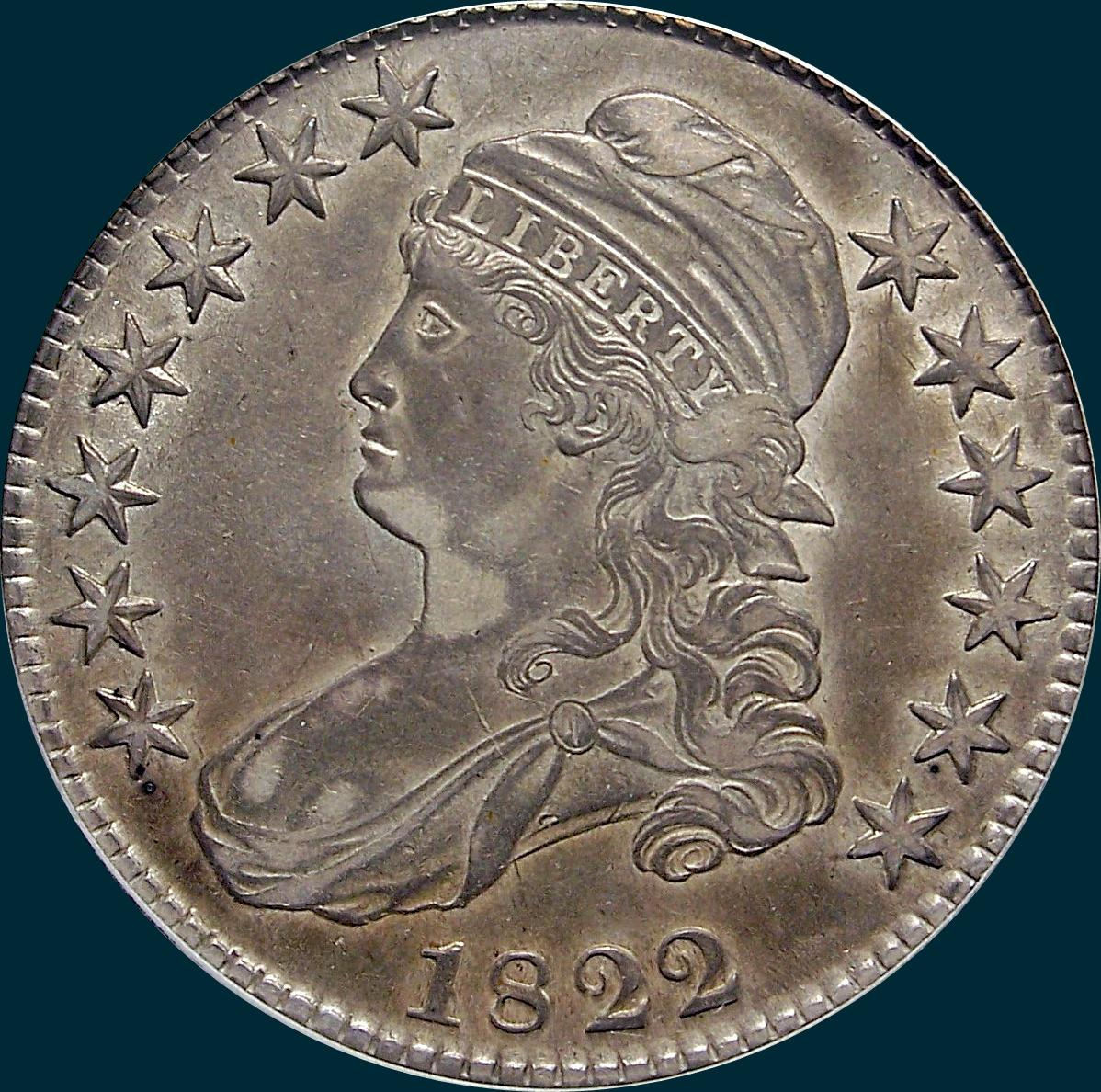 1822, O-110, Capped Bust, Half Dollar