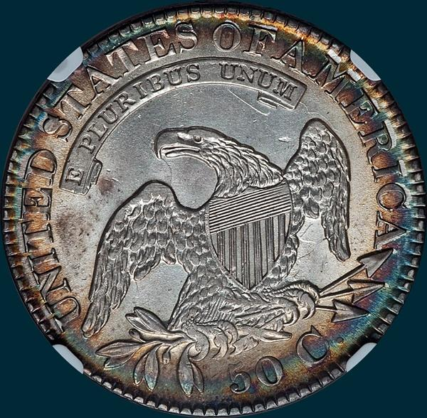 1826, O-112, Intermediate Die State, Capped Bust, Half Dollar