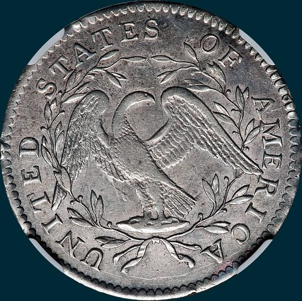 1795, O-131 Edge, Flowing Hair, Half Dollar