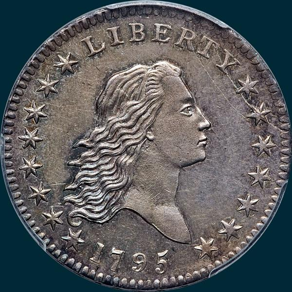 1795, O-110a,  Flowing Hair, Half Dollar
