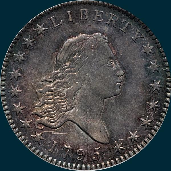 1795, O-109, Flowing Hair, Half Dollar