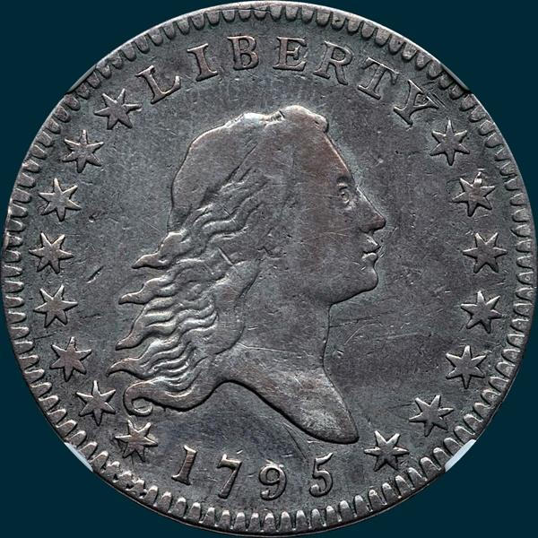 1795, O-108, Flowing Hair, Half Dollar