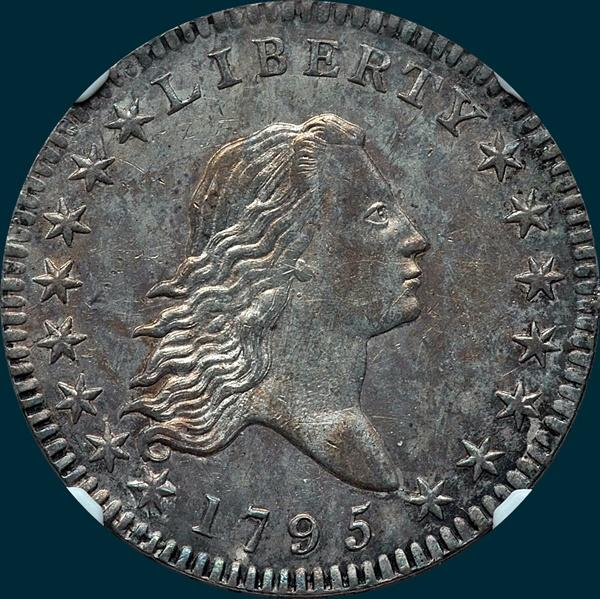 1795, O-108a,  Flowing Hair, Half Dollar