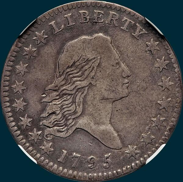 1795, O-107a,  Flowing Hair, Half Dollar
