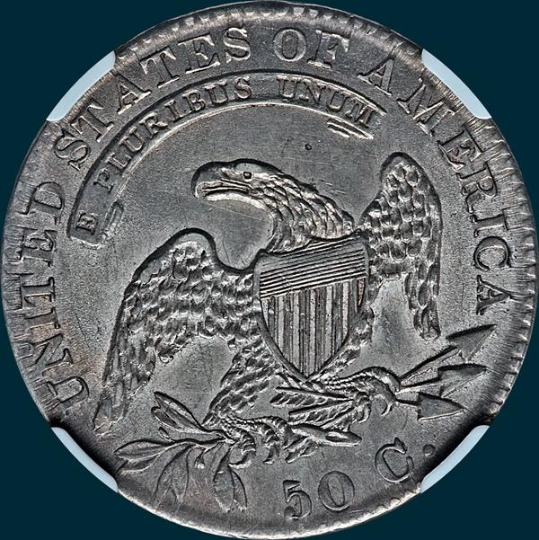 1832 O-120 capped bust half dollar