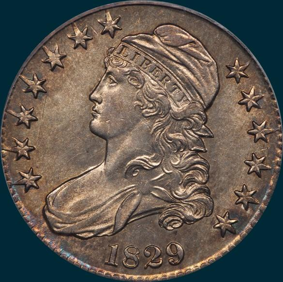 1829 O-106, capped bust half addict