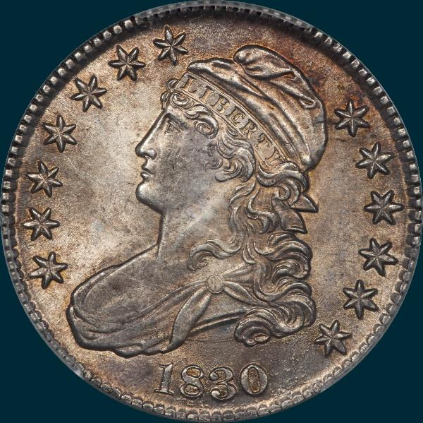 "1830, O-110""a"" , Small 0, Capped Bust Half Dollar"