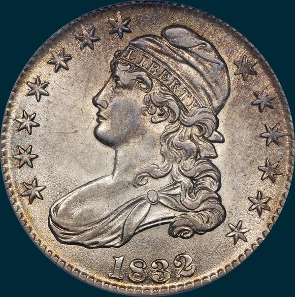 1832, O-116, Small Letters, Capped Bust, Half Dollar