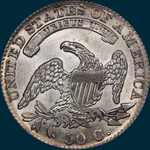 1832 O-116 capped bust half dollar