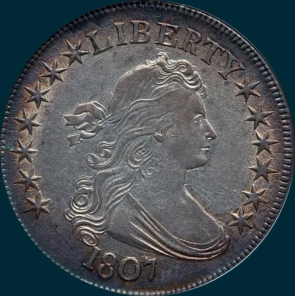 1807, O-105a, Draped Bust, Half Dollar