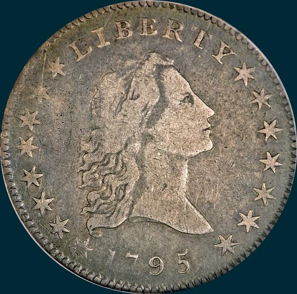 1795, O-127 Edge, Flowing Hair, Half Dollar