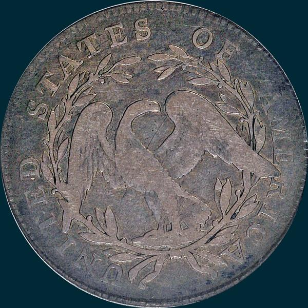 1795, O-127a,  Flowing Hair, Half Dollar