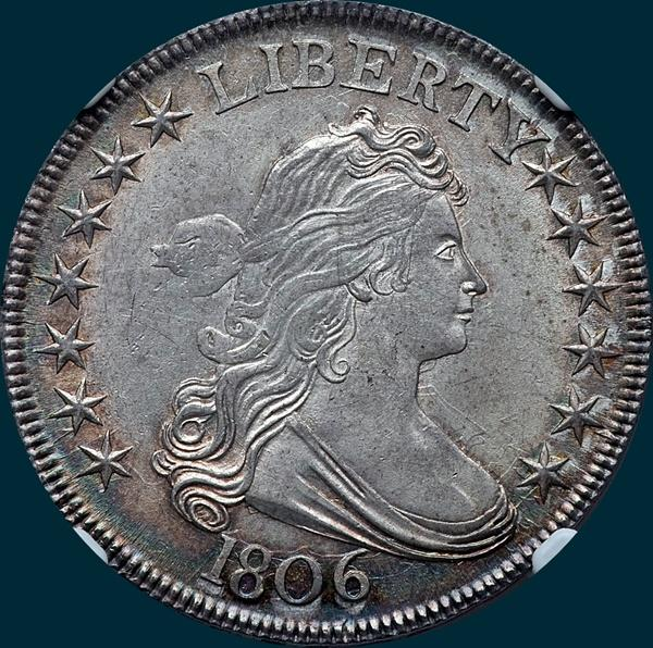 1806, O-119, Draped Bust, Half Dollar
