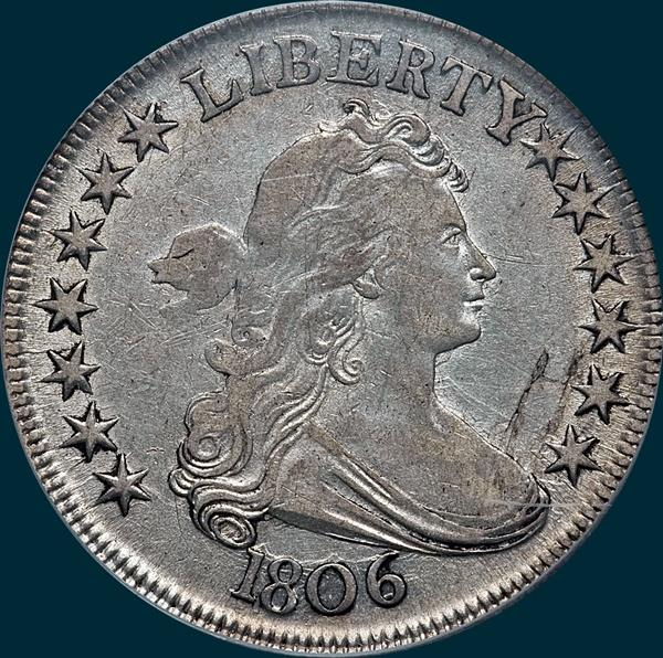 1806, O-119a, Draped Bust, Half Dollar