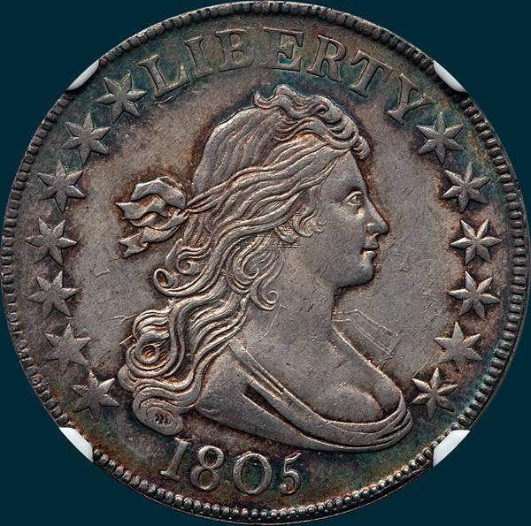 1805, O-111, R2, Draped Bust, Half Dollar