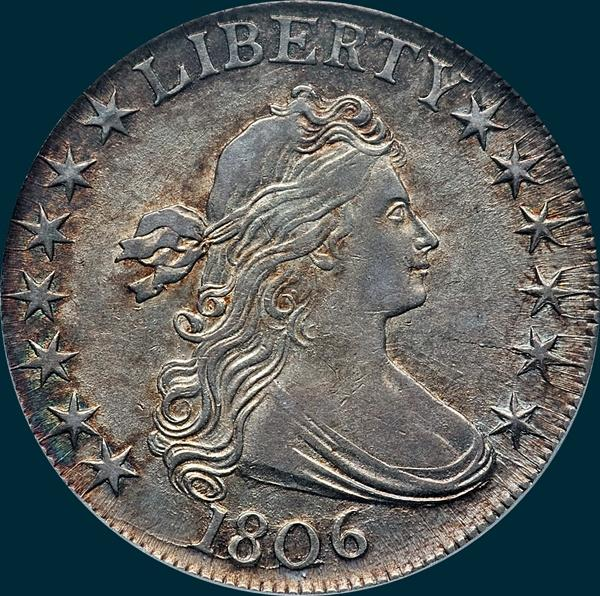 1806, O-109a, Draped Bust, Half Dollar