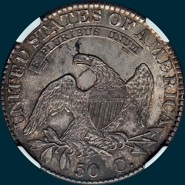 1823, O-106, Capped Bust, Half Dollar