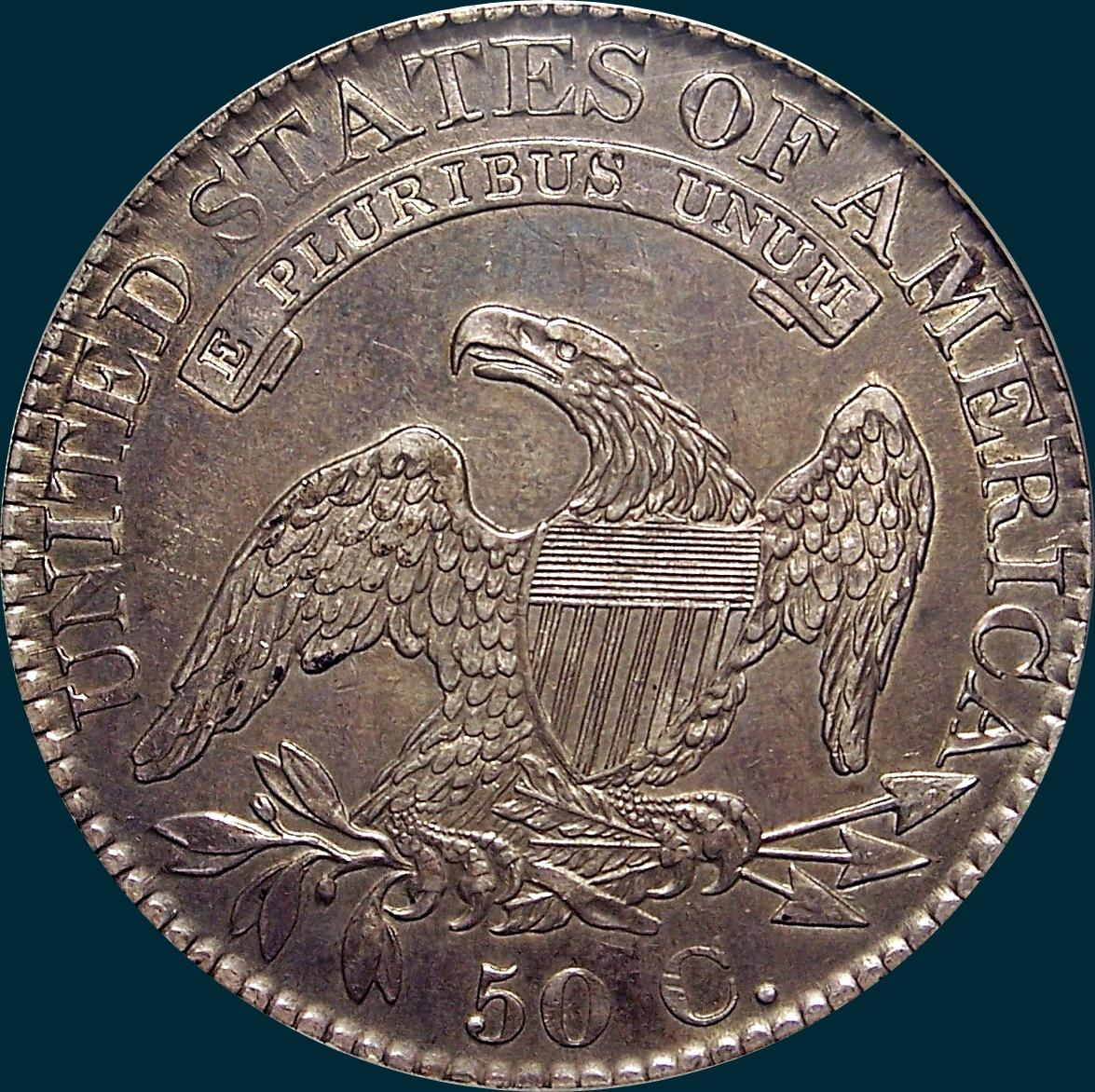 1826, O-102, Capped Bust, Half Dollar