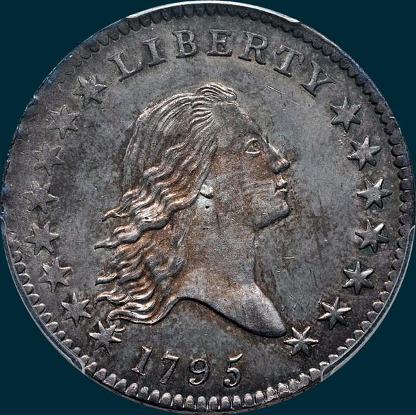 1795, O-129, Flowing Hair, Half Dollar
