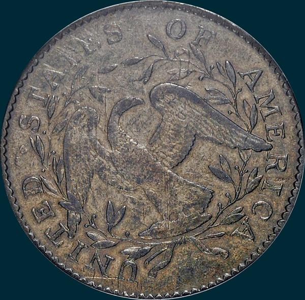 1795, O-129a, Flowing Hair, Half Dollar