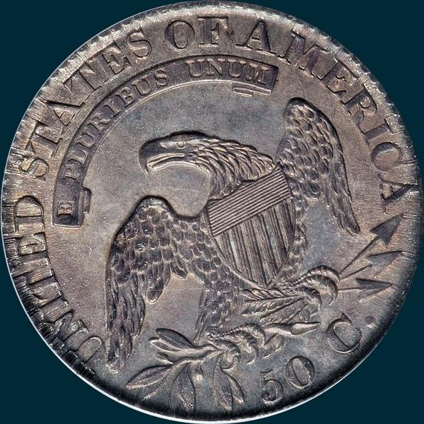 1827, O-117a, R4, Square Base 2, Capped Bust, Half Dollar