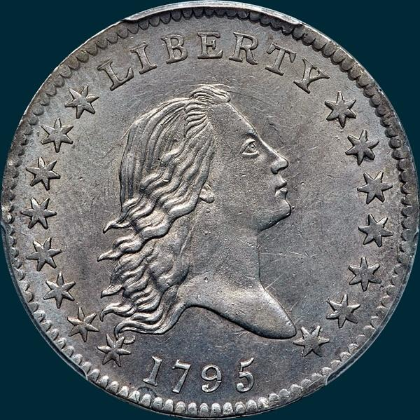 1795, O-130 Edge, Flowing Hair, Half Dollar