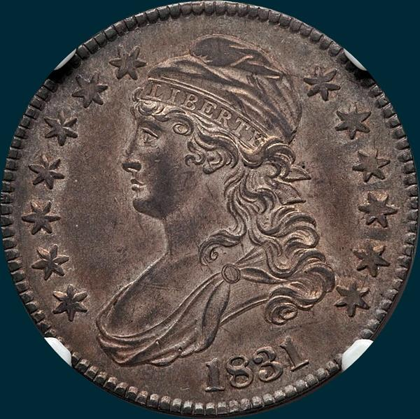 1831, O-113, Capped Bust, Half Dollar