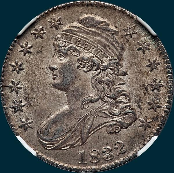 1832 O-101 Capped Bust half Dollar